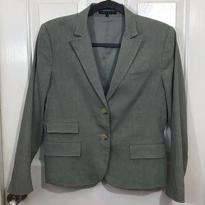 Theory | Sage Green Linen Blend Blazer Sz 8